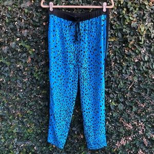 Elizabeth & James Silk Animal Print Pants Sz Small